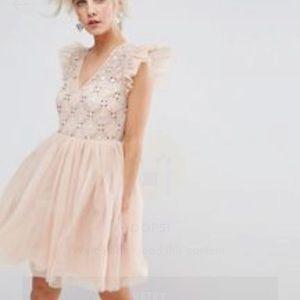 ASOS Petite Embellished Tulle Mini Dress